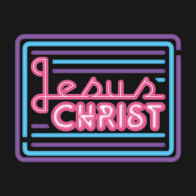 Neon Sign t Shirt Jesus Christ Neon Sign