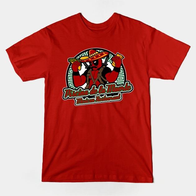 T shirts piscina de la muerte mexica teepublic for Restaurant t shirt ideas