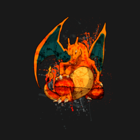 Pokemon - Charizard Splatter