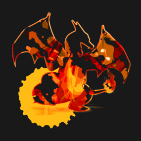 Pokemon - Charizard red fire