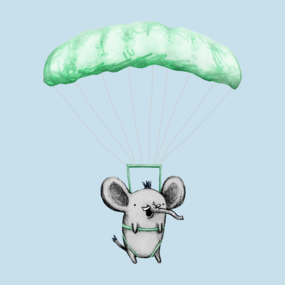 Cutie Parachuting Elephant