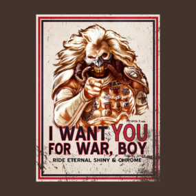 I Want YOU for WAR, BOY (dark colors)
