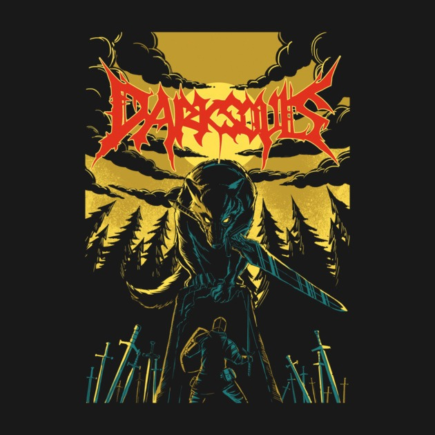 Unofficial Dark Souls Metal Band Tee